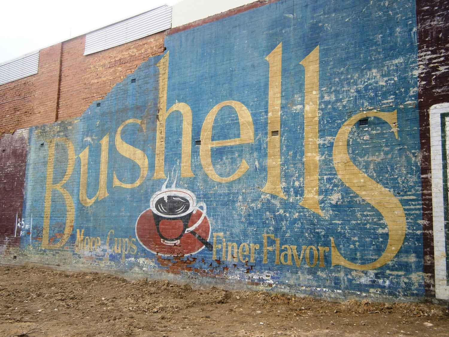 Vintage Bushells ad in the village of Surrey Hills, Victoria - taken by Our Country Life