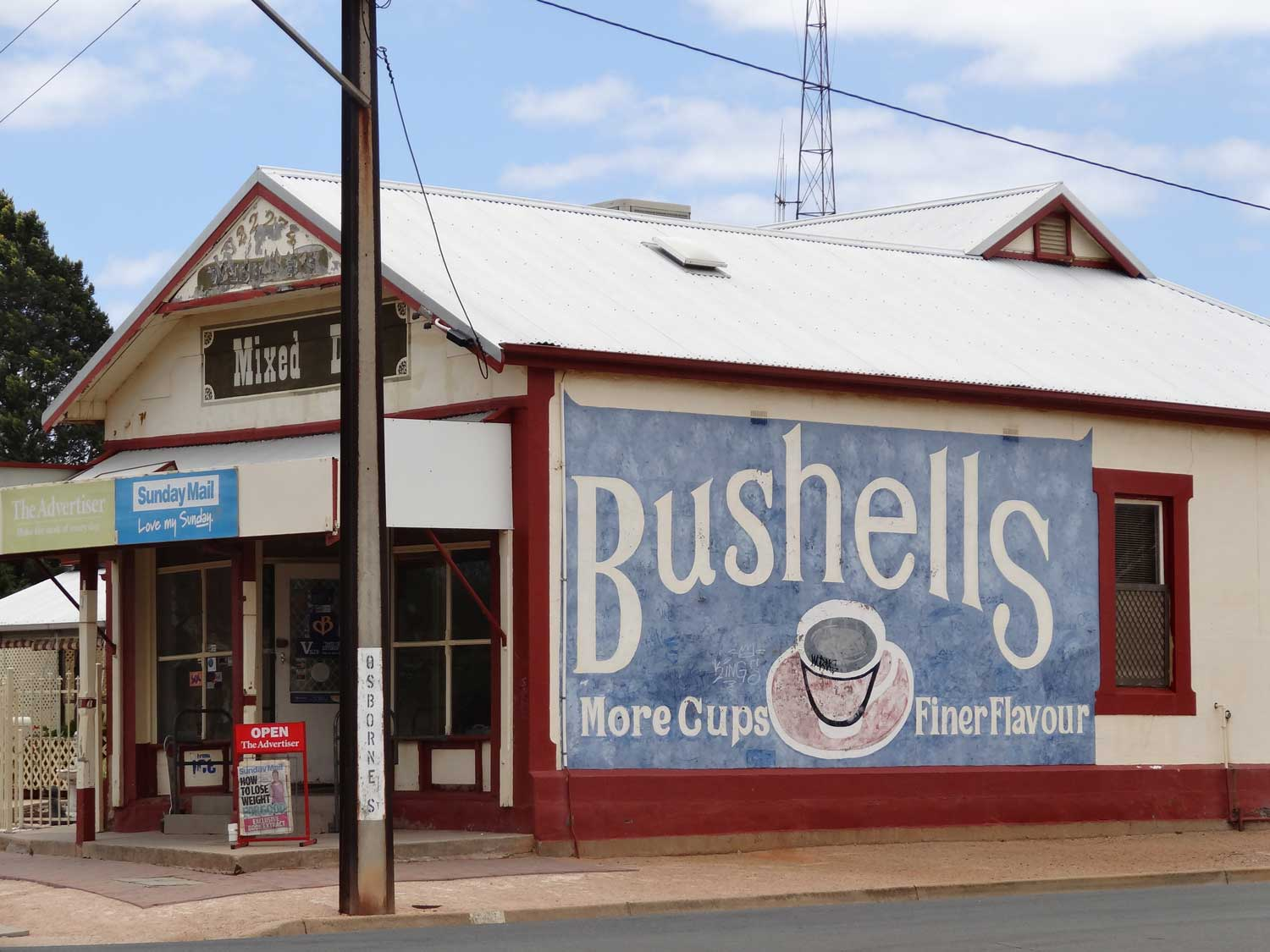 Bushell tea advertsing on the side of an old store in Terowie South Australia. By Denisbin on Flickr
