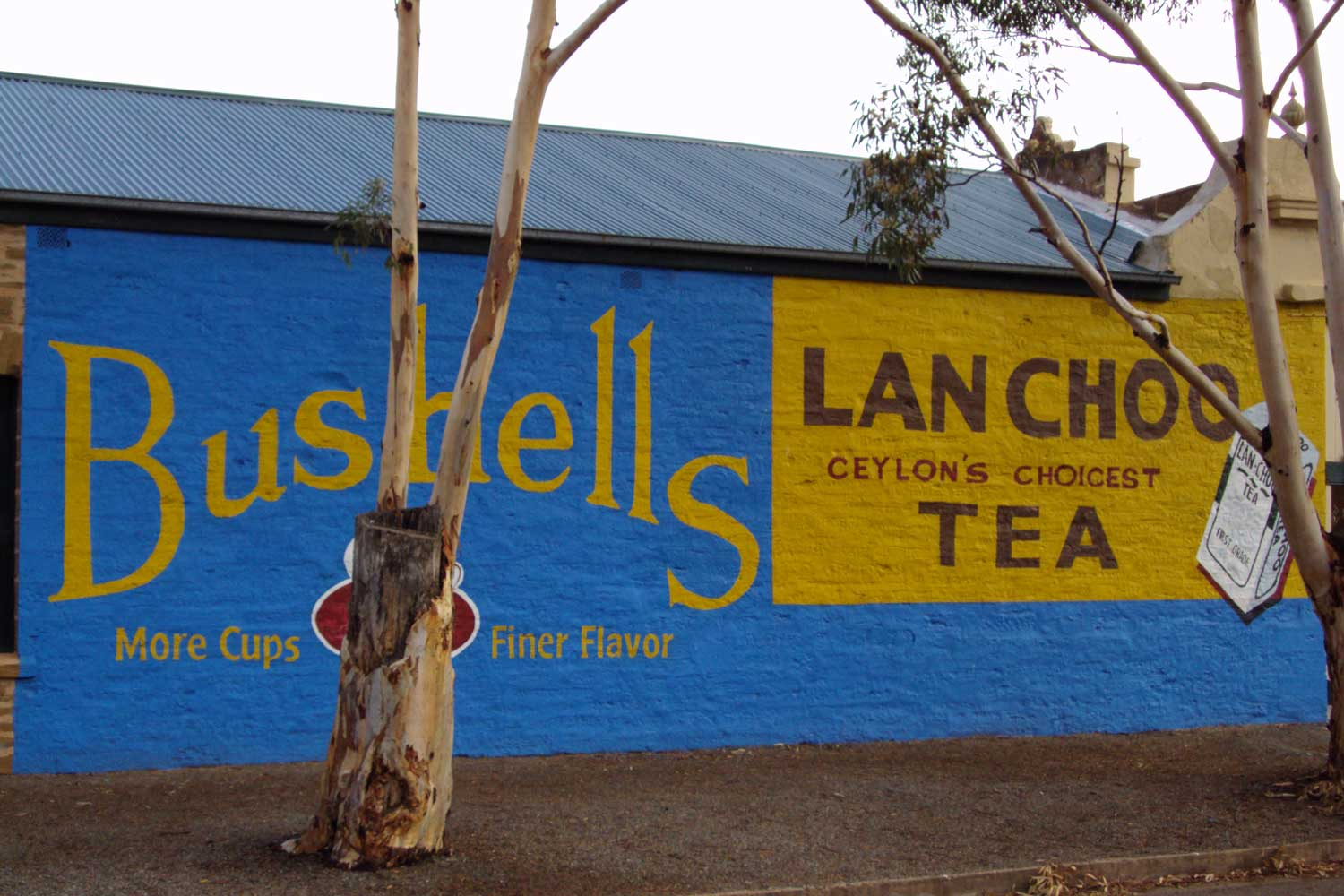Bushells tea advertising on the side of an old store in Terowie, South Australia. By Denisbin on Flickr